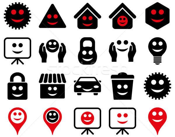 Tools opties glimlacht objecten iconen ingesteld Stockfoto © ahasoft
