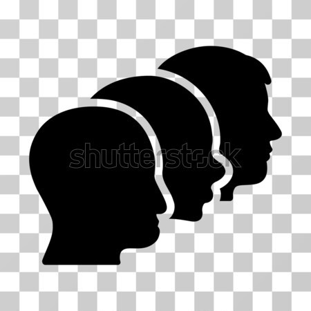 Man Head Flat Vector Icon Stock photo © ahasoft