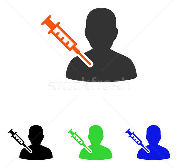 Patient Vaccination Flat Vector Icon Stock photo © ahasoft