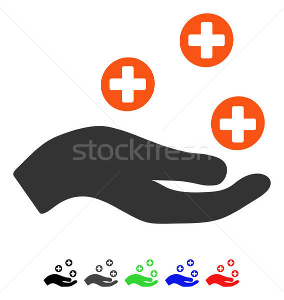 стороны предлагать медицина икона вектора пиктограммы Сток-фото © ahasoft