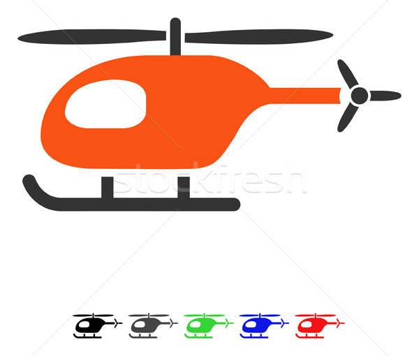 Elicopter Icoană Vector Colorat Culoare Negru