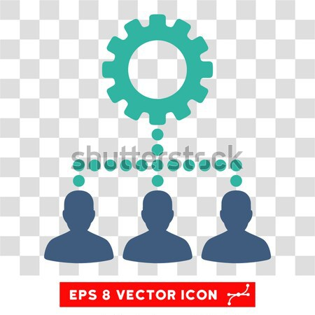 Kierownik wektora ikona stylu ikonowy symbol Zdjęcia stock © ahasoft