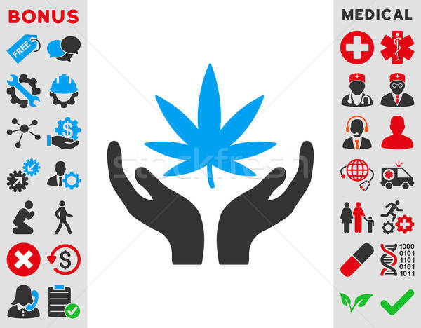 Cannabis Care Icon Stock photo © ahasoft