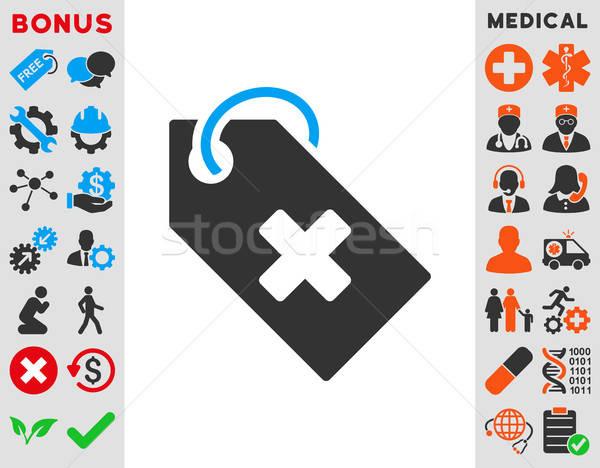 Hospital Tag Icon Stock photo © ahasoft