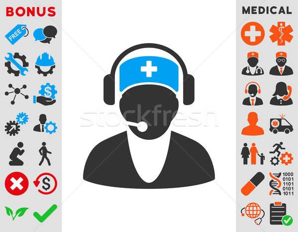 Hospital recepcionista icono vector estilo símbolo Foto stock © ahasoft