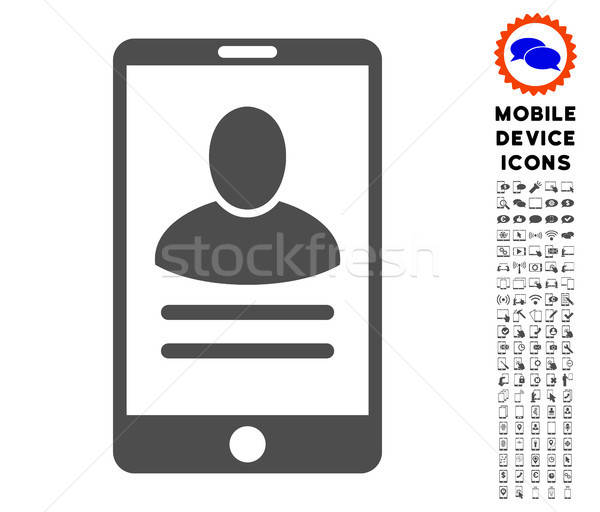 Mobile User Properties Icon with Set Stock photo © ahasoft