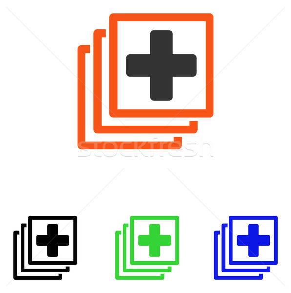Medici docs vettore icona illustrazione stile Foto d'archivio © ahasoft