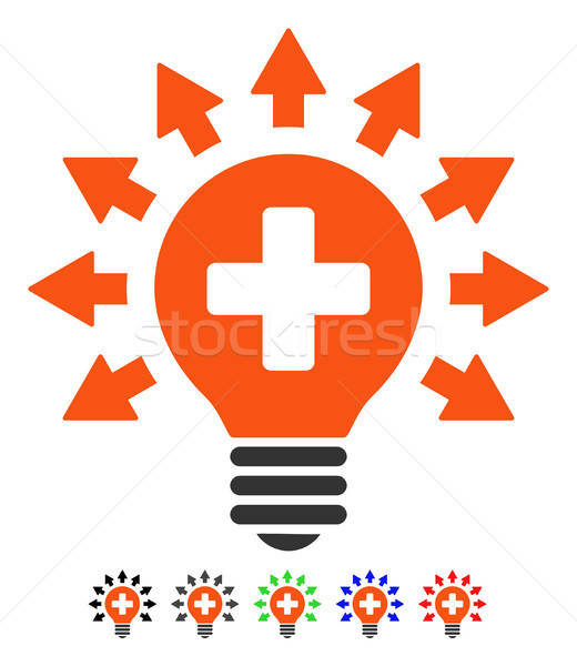 Disinfection Lamp Flat Icon Stock photo © ahasoft