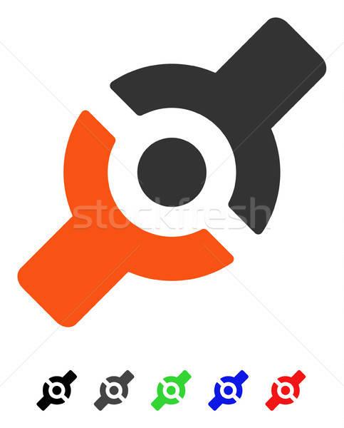人工的な ジョイント アイコン ベクトル 絵文字 ストックフォト © ahasoft