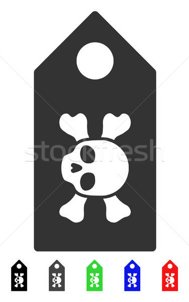 Death Label Flat Icon Stock photo © ahasoft