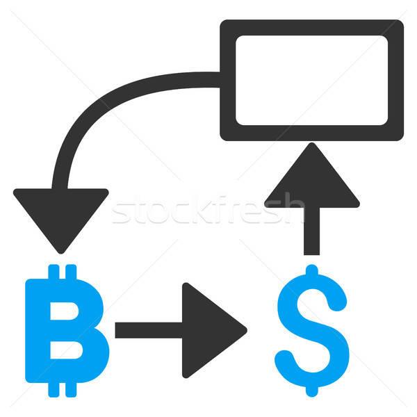 Bitcoin dólar fluxograma ícone vetor aplicação Foto stock © ahasoft