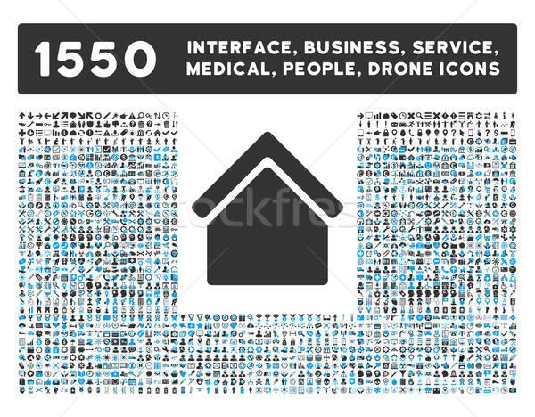 Stock fotó: Otthon · ikon · több · interfész · üzlet · szerszámok