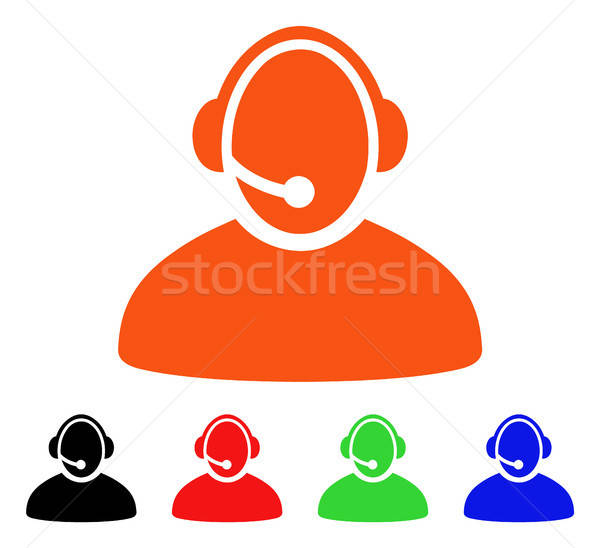 Call Center Operator Vector Icon Stock photo © ahasoft