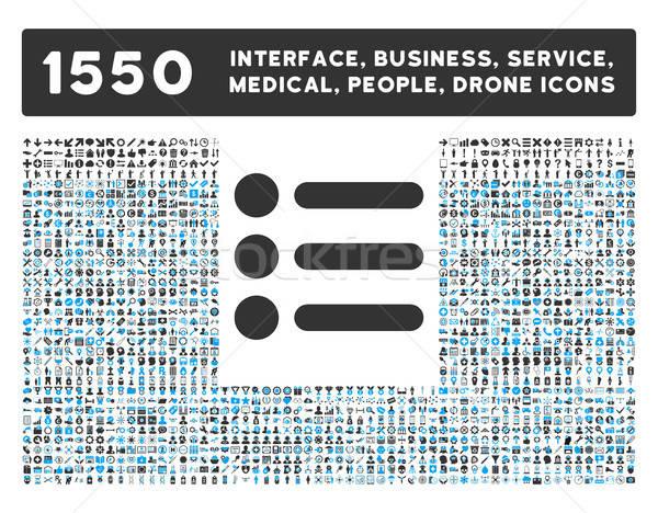 ícone mais interface negócio ferramentas pessoas Foto stock © ahasoft