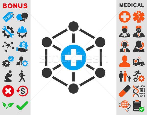Medical Network Icon Stock photo © ahasoft