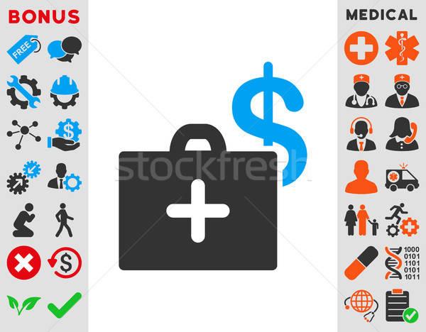медицинской фонд икона вектора стиль символ Сток-фото © ahasoft