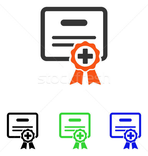 Certificate Diploma Flat Vector Icon Stock photo © ahasoft
