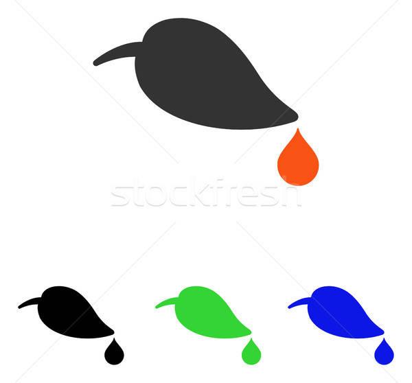 ökológia vektor ikon illusztráció stílus ikonikus Stock fotó © ahasoft