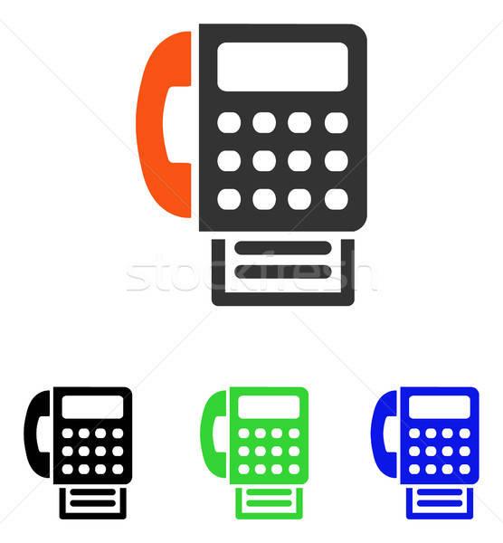 Stock photo: Fax Flat Vector Icon