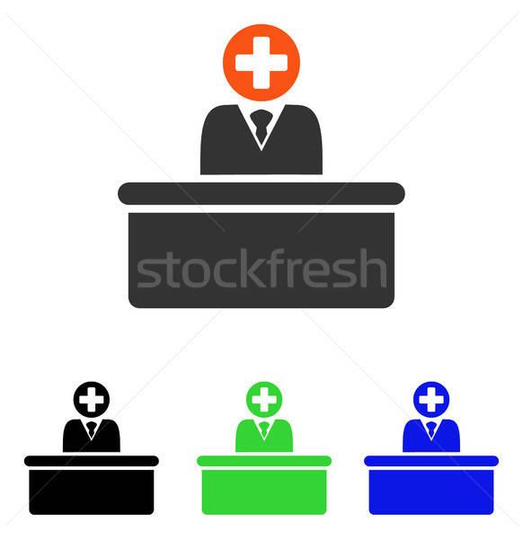 Medical Bureaucrat Flat Vector Icon Stock photo © ahasoft