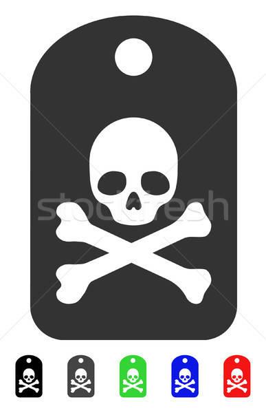 смерти наклейку икона вектора цвета Сток-фото © ahasoft
