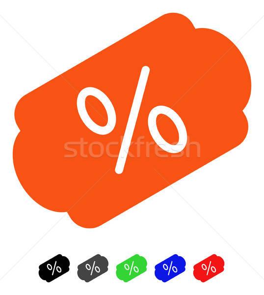 Discount Label Flat Icon Stock photo © ahasoft