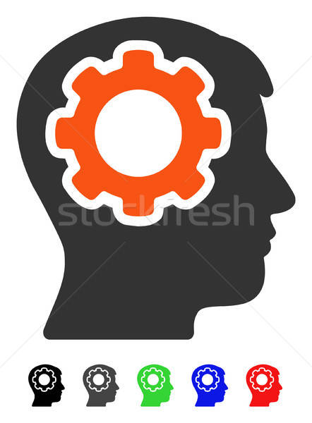 Human Mind Flat Icon Stock photo © ahasoft