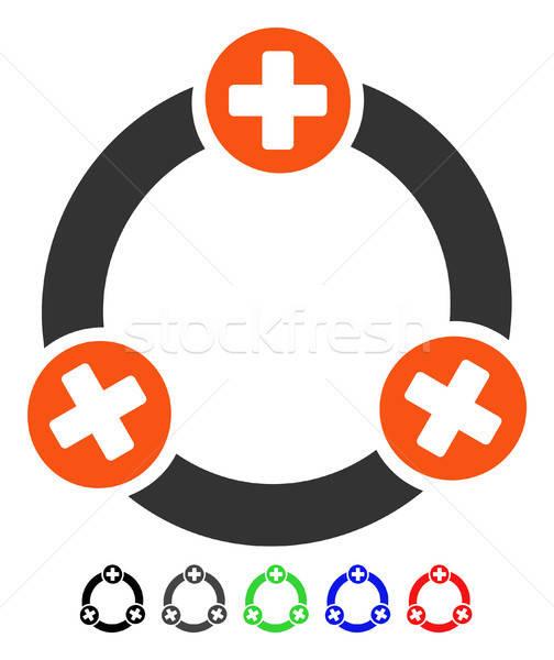 Medical Collaboration Flat Icon Stock photo © ahasoft