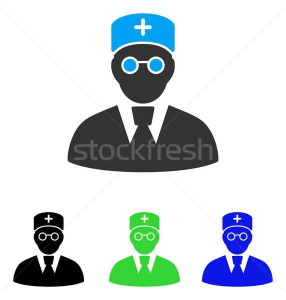 Lekarza ikona wektora stylu graficzne symbol Zdjęcia stock © ahasoft