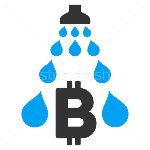Bitcoin Laundering Shower Flat Icon Stock photo © ahasoft