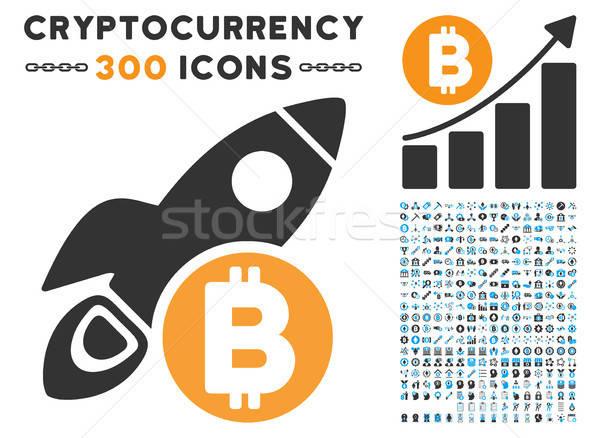 Bitcoin razzo icona clipart Smart contratto Foto d'archivio © ahasoft