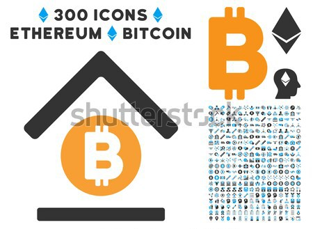 Ethereum Shop Flat Icon with Clip Art Stock photo © ahasoft