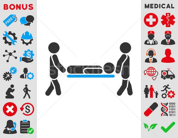 Stock photo: Patient Stretcher Icon