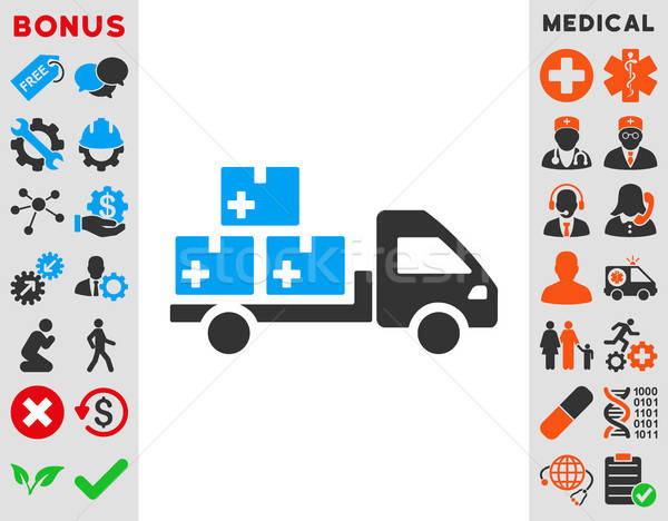 Medication Delivery Icon Stock photo © ahasoft