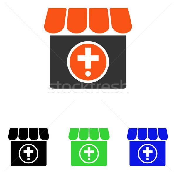 Apteka wektora ikona ilustracja stylu ikonowy Zdjęcia stock © ahasoft