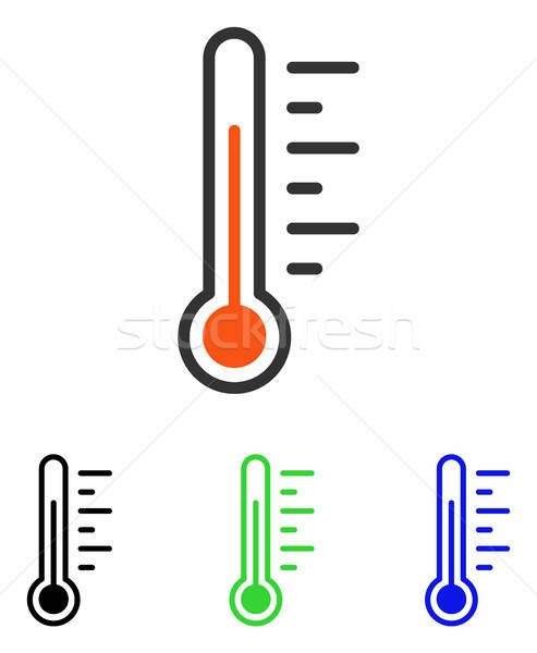 Temperatuur niveau vector icon illustratie stijl Stockfoto © ahasoft