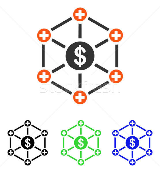 Financial Medical Network Flat Vector Icon Stock photo © ahasoft