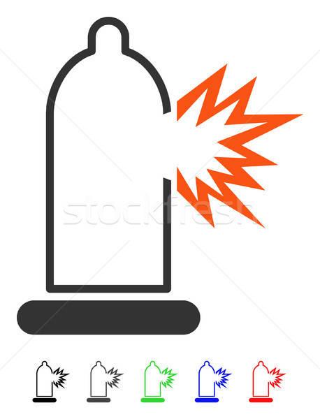 Condom Damage Flat Icon Stock photo © ahasoft