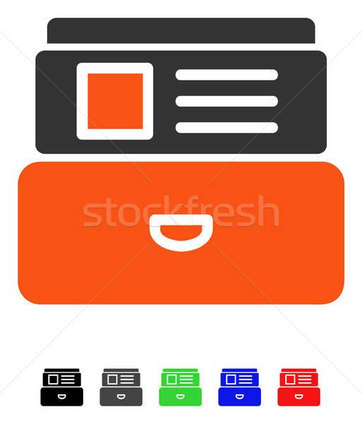 Catálogo ícone cor preto cinza Foto stock © ahasoft