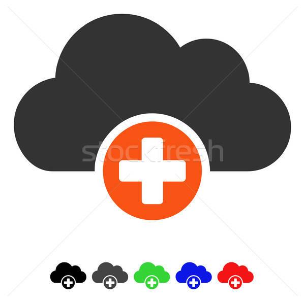 Bulut tıp ikon vektör resim yazı renkli Stok fotoğraf © ahasoft
