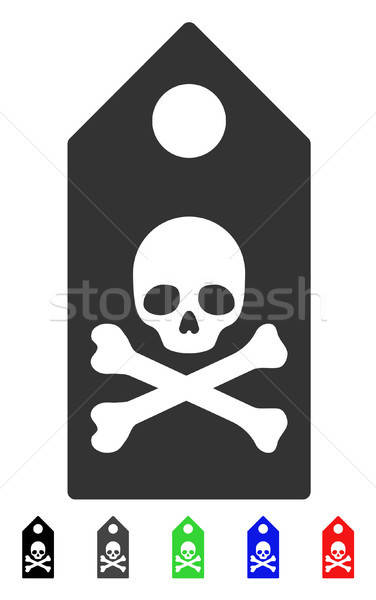 Death Mark Flat Icon Stock photo © ahasoft