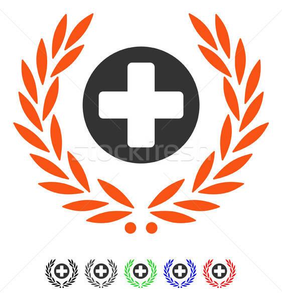 Health Care Embleme Flat Icon Stock photo © ahasoft