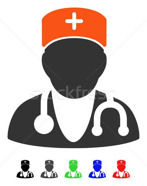 Lekarz ikona wektora kolorowy kolor czarny Zdjęcia stock © ahasoft
