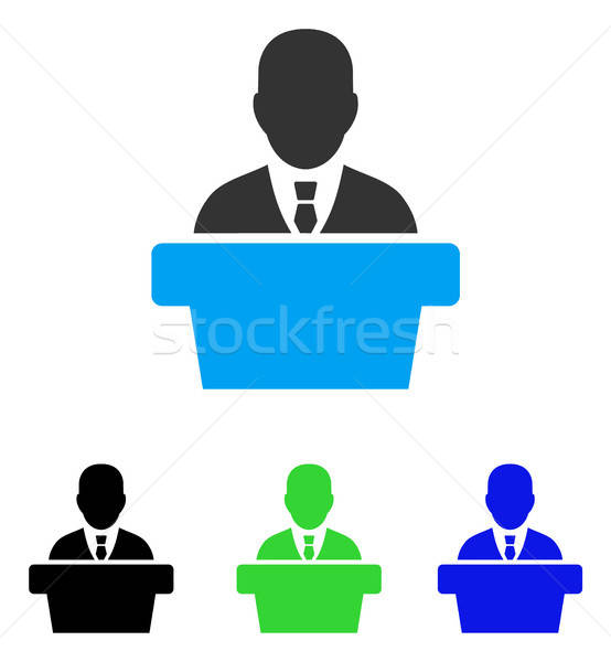 Politician Flat Icon Stock photo © ahasoft