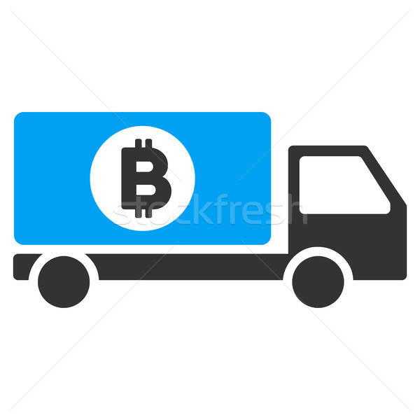 Bitcoin Delivery Lorry Flat Icon Stock photo © ahasoft