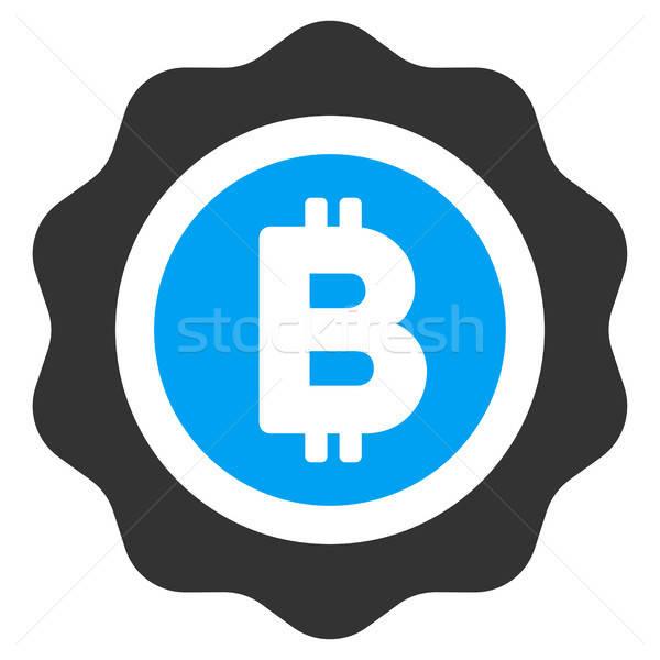 Bitcoin Seal Flat Icon Stock photo © ahasoft