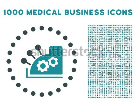 Gear Icon and More Interface, Business, Tools, People, Medical, Awards Flat Vector Icons Stock photo © ahasoft