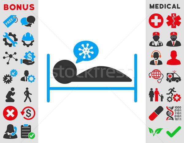 Paciente cama icono vector estilo símbolo Foto stock © ahasoft