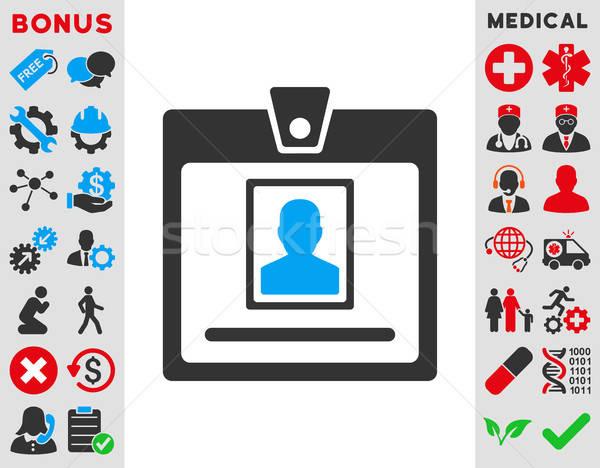 Persona placa icono vector estilo símbolo Foto stock © ahasoft