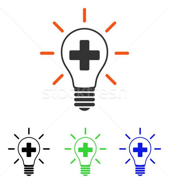 Creative Medicine Bulb Flat Vector Icon Stock photo © ahasoft